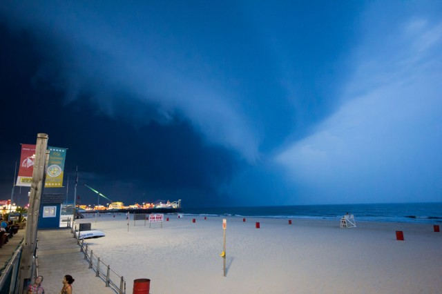Amazing Storm over the Boardwalk