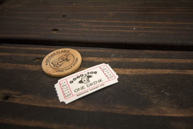 Tokens for food and beer
