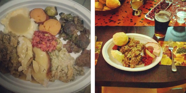 Erin's Plate (L) and Jason's Plate (R)